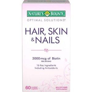 Nature's Bounty 头发、皮肤、指甲复合营养片 60粒