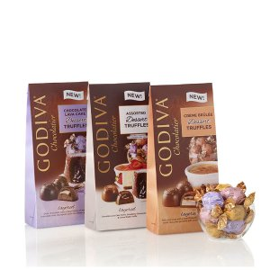 Wrapped Dessert Chocolate Truffles (Set of 3) | GODIVA