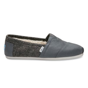 Castlerock Grey Coated Canvas Men's Classics | TOMS