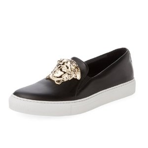 Versace Palazzo Leather Slip-On Sneaker