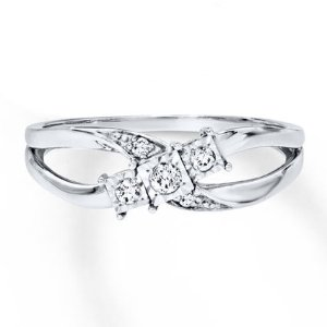 Kay - Diamond Ring 1/10 ct tw Round-cut Sterling Silver
