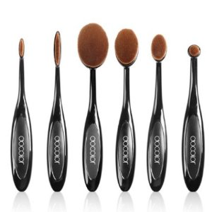 $13.59 Docolor 6Pcs Oval Makeup Brushes Set