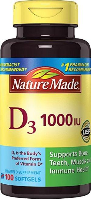 $3.55Nature Made, Vitamin D3 1,000 I.u. Liquid Softgels, 100-Count