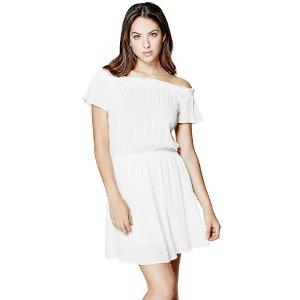 Krysti Off-The-Shoulder Dress | GuessFactory.com