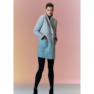 marbled boucle coat