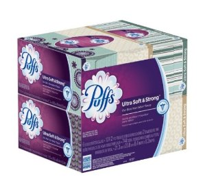 $16.71 Puffs Ultra Soft & Strong Facial Tissues, 24 Family Boxes (124 Tissues per Box)