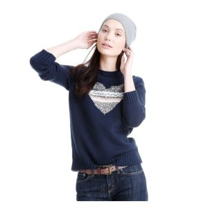 Graphic Sweater in Navy from Joe Fresh