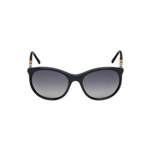 Burberry BE4145 55 Grey & Black Polarized Sunglasses | Sunglass Hut USA