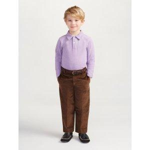 Heathered Long Sleeve Polo - Sale
