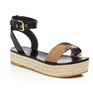 Burberry Parkeston Espadrille Platform Sandals | Bloomingdale's