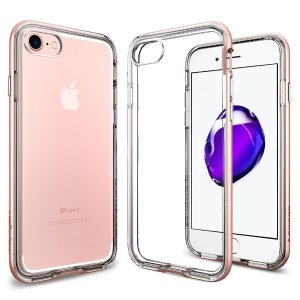 Spigen Neo Hybrid Crystal PREMIUM BUMPER for iPhone 7, Rose Gold