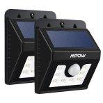 $21.49(原价$29.99) 销量冠军!Mpow Super Bright LED 太阳能防水感应灯, 2个