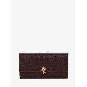 Calf Leather Continental Wallet | Alexander McQueen