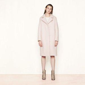 GYMON Long boiled wool coat - Coats & Jackets - Maje.com