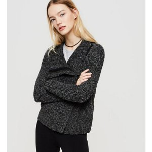 Lou & Grey Zip Moto Sweater Jacket | Lou & Grey