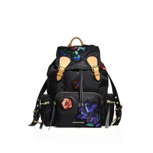 Medium Sequin Nylon Rucksack by Burberry