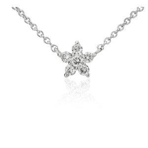 Mini Star Diamond Pendant in 14k White Gold (1/10 ct. tw.) | Blue Nile