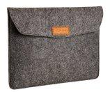 AmazonBasics 13-Inch Felt Laptop Sleeve - Charcoal
