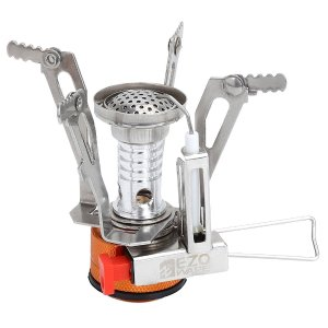 EZOWare Portable LightWeight Mini Outdoor Backpacking Camping Stove Burner Cookware