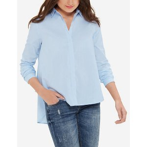High-Low Button Down Shirt | Women's Blouses & Shirts | THE LIMITED
