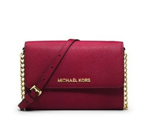 MICHAEL Michael Kors Jet Set Travel Saffiano Leather Smartphone Crossbody Bag @ Lord & Taylor