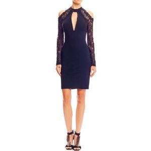 Nicole Miller Kendall Lace Keyhole Dress