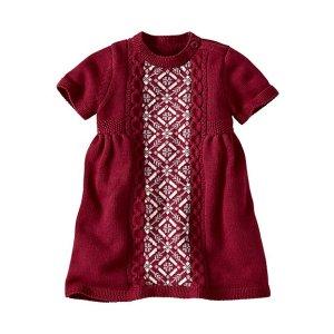Cozy Cableknit Sweater Dress | Baby Sale Dress