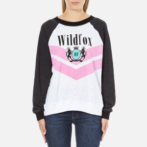 Wildfox Women's Wildfox Academy Kims Top - Clean White/Clean Black - Free UK Delivery over £50