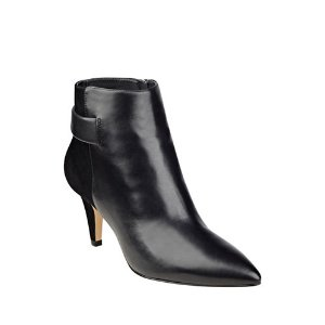 NINE WEST Jaison Leather Ankle-Length Booties