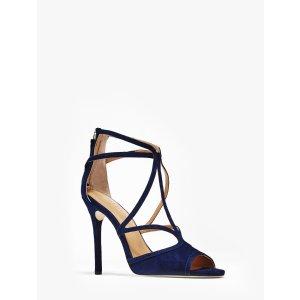 Monica Suede High Heel Sandal