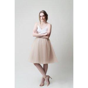 Gretta Tulle Skirt - Champagne -