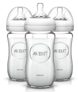 $14.1Philips AVENT Natural Glass Bottle, 8 Ounce (Pack of 3)