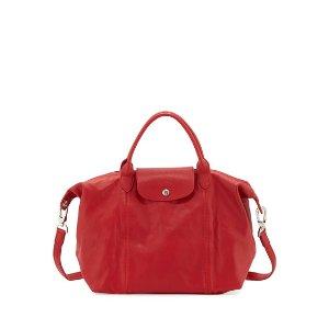 Longchamp 红色小羊皮