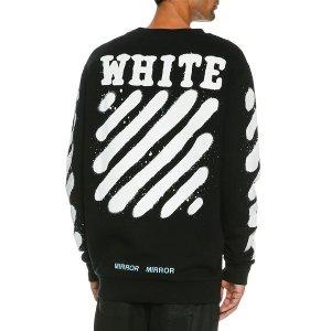 Off-White Spray-Paint Logo Long-Sleeve T-Shirt, Black/White