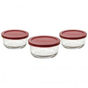 Anchor Hocking 6pc 2cup Kitchen Storage w/ Red Lids