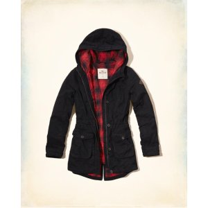 Girls Flannel Lined Parka | Girls Clearance | HollisterCo.com