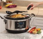$39.99 Hamilton Beach Set 'n Forget Programmable Slow Cooker With Temperature Probe, 6-Quart