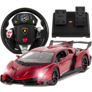 Best Choice Products 1/14 Scale RC Lamborghini Veneno Realistic Driving Gravity Sensor Remote Control Car Red - Walmart.com