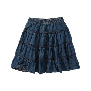 Hanna Andersson Vintage Wash Dot Chambray Twirly Skirt | zulily