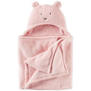 Carter's Baby Boys' or Baby Girls' Hooded Faux-Sherpa Animal Blanket