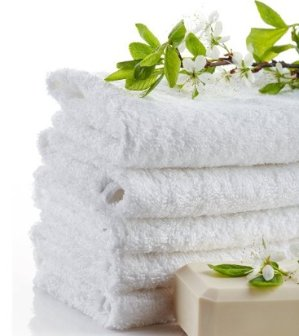 Wash Cloth Towels by Royal, 24-Pack, 100% Natural Cotton