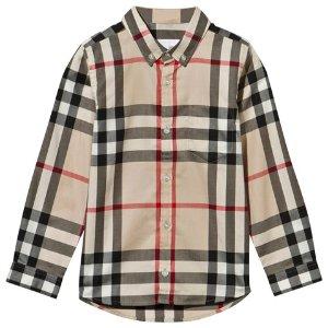 Burberry Beige New Classic Check Button Down Shirt | AlexandAlexa