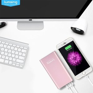 Lumsing Portable Charger 12000mAh Premium External Power Bank for SmartPhones Tablets