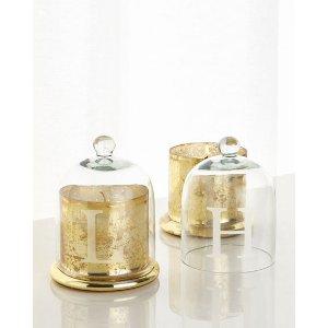 Monogrammed Glass Cloche