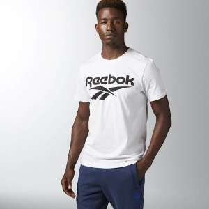 Reebok Chest Vector Graphic Tee - White | Reebok US