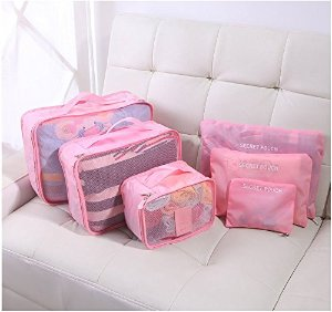 HOMEE Breathable Packing Cube Travel Luggage Organizers(6PK)