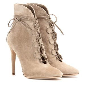 mytheresa.com - Empire lace-up suede ankle boots - High-heel - Ankle boots - Shoes - Luxury Fashion for Women / Designer clothing, shoes, bags