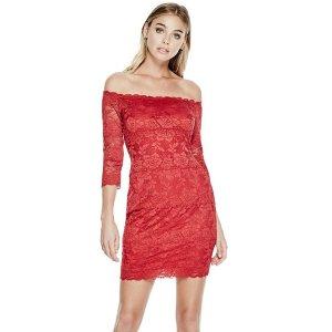 Celina Off-The-Shoulder Lace Dress