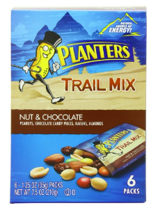 $2.39 Planters Trail Mix Pack, Nut and Chocolate, 6 Pouches, 7.5 Ounce