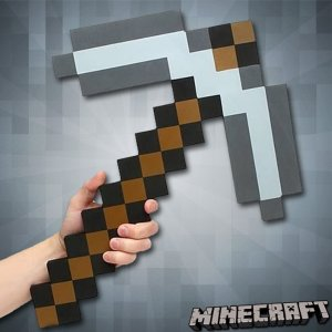 $3.97 Minecraft Foam Iron Pickaxe